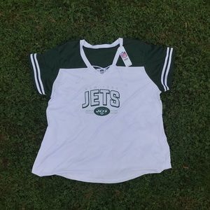 🏉NFL New York Jets Women's Plus Lace Up Jersey🏉